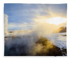 Drawn To The Sun Fleece Blanket