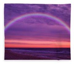 Dream Along The Ocean Fleece Blanket