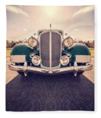 Car Photographs Fleece Blankets
