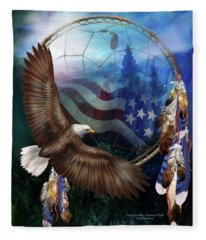 Dream Catcher - Freedom's Flight Fleece Blanket