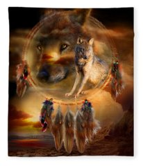 Dream Catcher - Wolfland Fleece Blanket