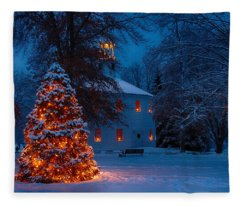 Christmas At The Richmond Round Church Fleece Blanket