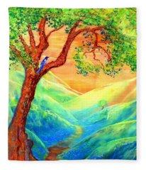 Dreaming Of Bluebells Fleece Blanket