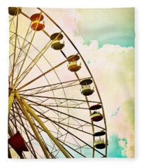 Dreaming Of Summer - Ferris Wheel Fleece Blanket