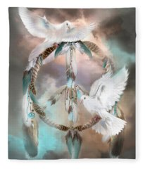 Dreams Of Peace Fleece Blanket