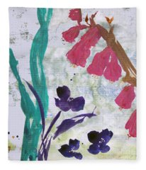 Dreamy Day Flowers Fleece Blanket