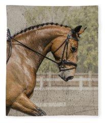 Dressage Horse  Fleece Blanket