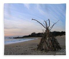 Driftwood Tipi Fleece Blanket