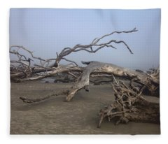 Driftwood Trees On Jekyll Island Fleece Blanket