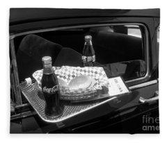 Drive-in Coke And Burgers Fleece Blanket