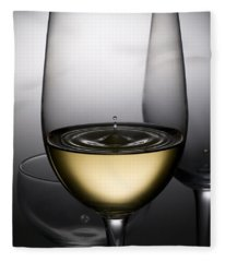 Drops Of Wine In Wine Glasses Fleece Blanket