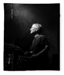 Drummer Portrait Of A Muscian Fleece Blanket