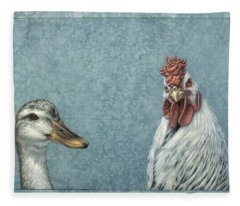 Duck Chicken Fleece Blanket