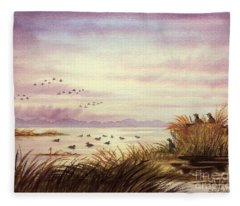 Duck Hunting Companions Fleece Blanket