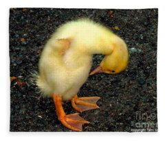 Duckling Takes A Bow Fleece Blanket