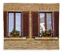 Dueling Windows Of Tuscany Fleece Blanket