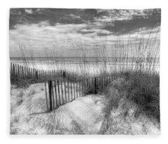Dune Fences Fleece Blanket