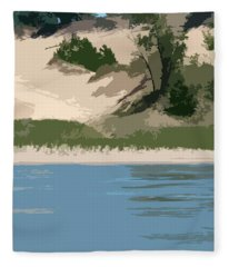 Dunes Of Lake Michigan Fleece Blanket