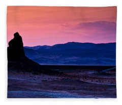 Dusk At Trona Fleece Blanket