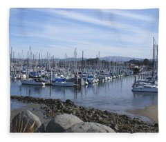 Dusk On The Bay Fleece Blanket
