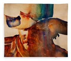 Dusty Cowboy Fleece Blanket