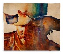 Dusty Cowboy Fleece Blanket
