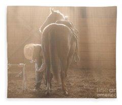 Dusty Morning Pedicure Fleece Blanket