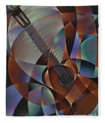 Dynamic Guitar Fleece Blanket