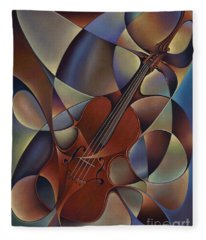 Dynamic Violin Fleece Blanket