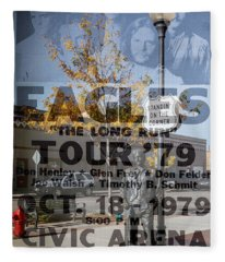 Eagles The Long Run Tour Fleece Blanket