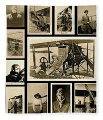 Earlier Aviators Fleece Blanket