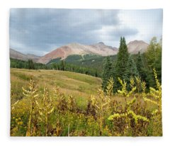 Early Autumn In The San Juans -  Mount Wilson And Wilson Peak Fleece Blanket