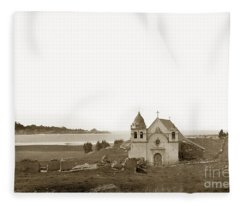Early Carmel Mission And Point Lobos California Circa 1884 Fleece Blanket