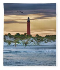 Early Evening Sky Fleece Blanket