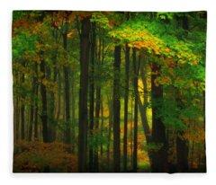 Early Fall 4 Fleece Blanket