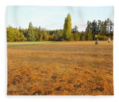 Early Fall Morning In The Rough On The Golf Course Fleece Blanket
