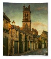 Early Morning Edinburgh Fleece Blanket