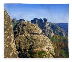Early Morning On Neurathen Castle Fleece Blanket