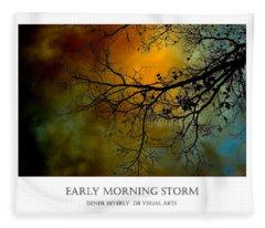 Early Morning Storm Fleece Blanket