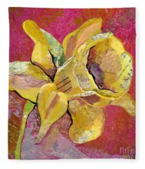 Early Spring I Daffodil Series Fleece Blanket