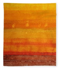 Earth And Sky Original Painting Fleece Blanket