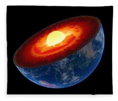 Geological Photographs Fleece Blankets
