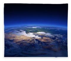 Earth - Mediterranean Countries Fleece Blanket