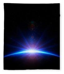 Earth Sunrise Fleece Blanket