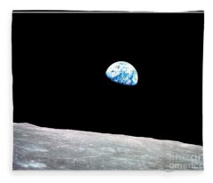 Earthrise Nasa Fleece Blanket