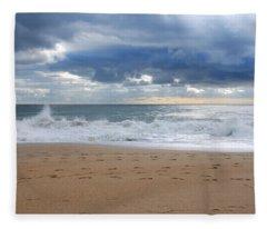 Earth's Layers - Jersey Shore Fleece Blanket