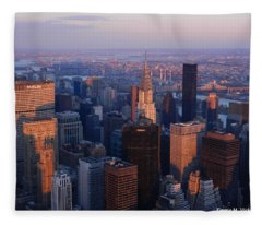 East Coast Wonder Aerial View Fleece Blanket