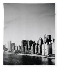 East River New York Fleece Blanket