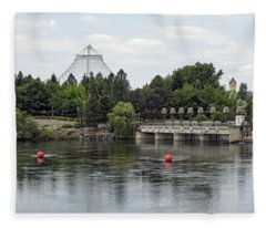 East Riverfront Park And Dam - Spokane Washington Fleece Blanket