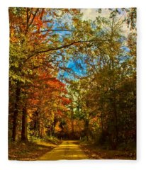 East Texas Back Roads Hdr Fleece Blanket